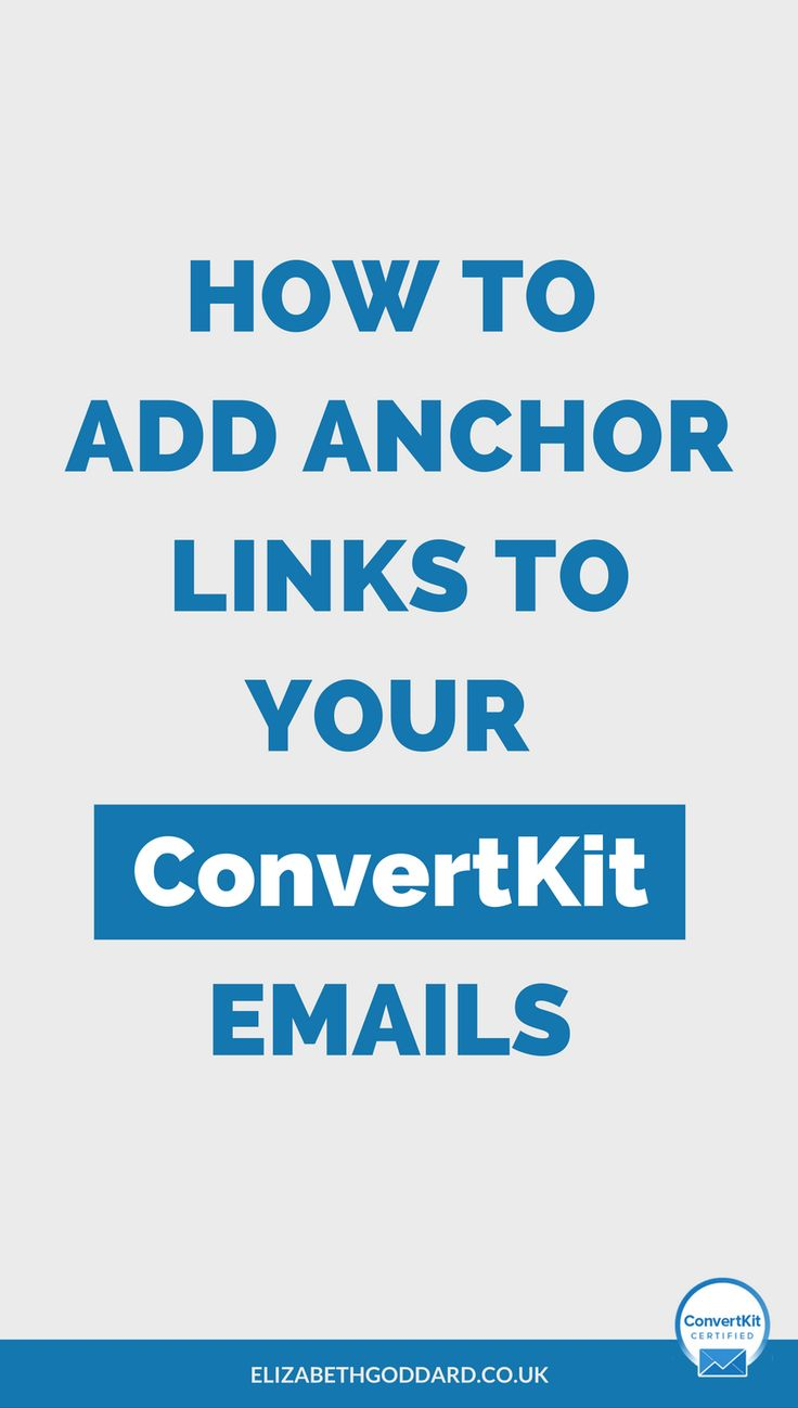 Looking for Newsletter Tips? Check out my ConvertKit Tutorial on how to add anchor links to your ConvertKit emails. What's an Anchor Link? It's when you click on a link in an email (or a page) and you 'jump' to the relevant section (rather than having to scroll down). Email marketing tips | email list ideas | email list growth | email list tips | work from home.