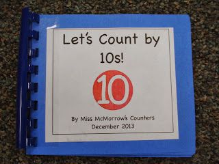 Skip Counting by fives and tens. Each child holds up 5 or 10 fingers in photo. Also many other class book ideas!