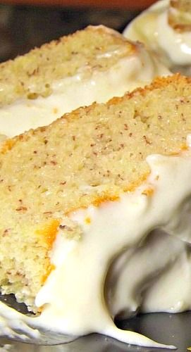 "Vintage Banana Cake. ""This is the real deal retro-style. A classic banana layer cake from the 1940's made in that simple old-fashioned style like Grandma used to bake."""
