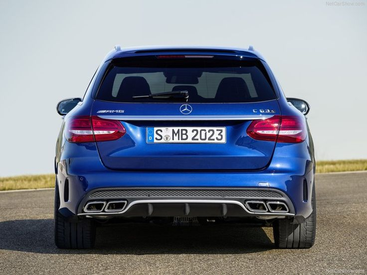 2015 Mercedes-Benz C63s AMG Back Angle