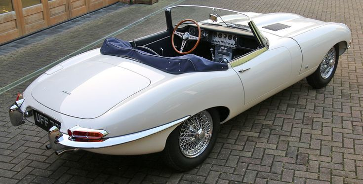 -- Second Rarest Jaguar E-Type -- 1961 JAGUAR E-TYPE OTS FLAT FLOOR with TWIN EXTERNAL BONNET LATCHES (car shown is fully restored) - Right Rear Three-Quarters View