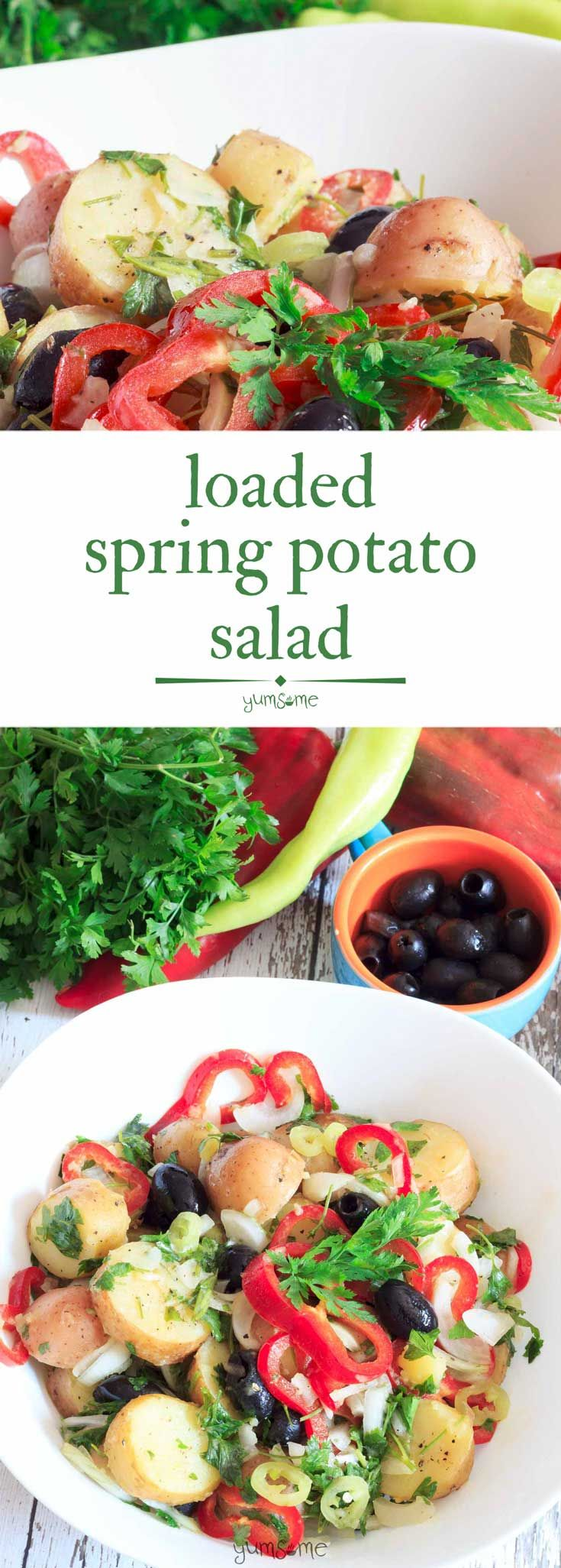 This loaded spring salad is delicious, simple, and…