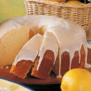 Moist Lemon Chiffon Cake - I'm going to cut the recipe in half and test it in my mini bundt pan :)