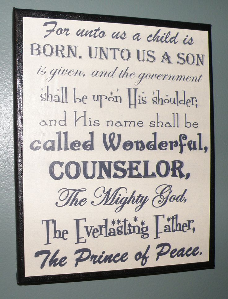 Christmas decoration, mantel, sign, religious picture, Bible verse. $7.00, via Etsy.