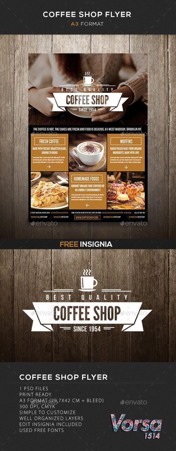 Coffee Shop flyer Template #design Download: graphicriver.net/...: