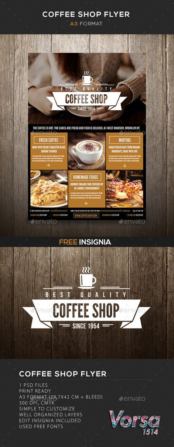 Coffee Shop flyer Template #design Download: http://graphicriver.net/item/coffee-shop-flyer/10116679?ref=ksioks: