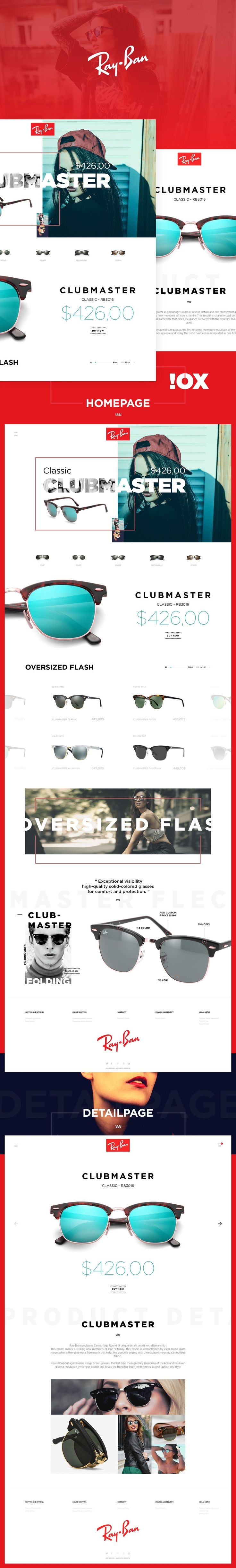 Ray-Ban Clubmaster Concept on Behance