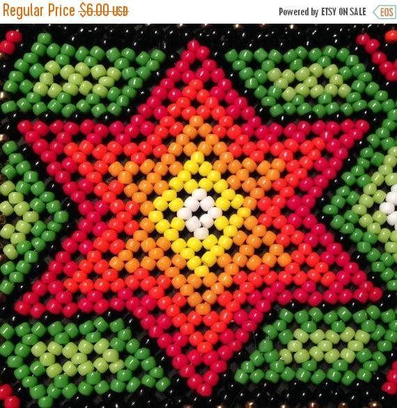 20% SALE Stars huichol bracelet pattern