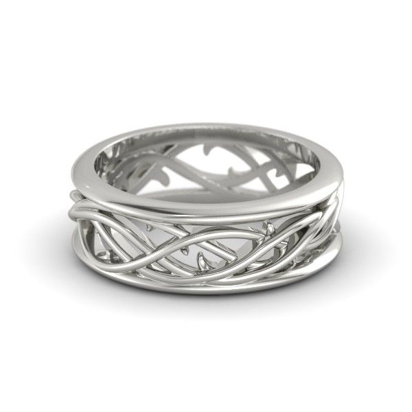 White Gold Twining Vine Band OMG!  I love this ring!