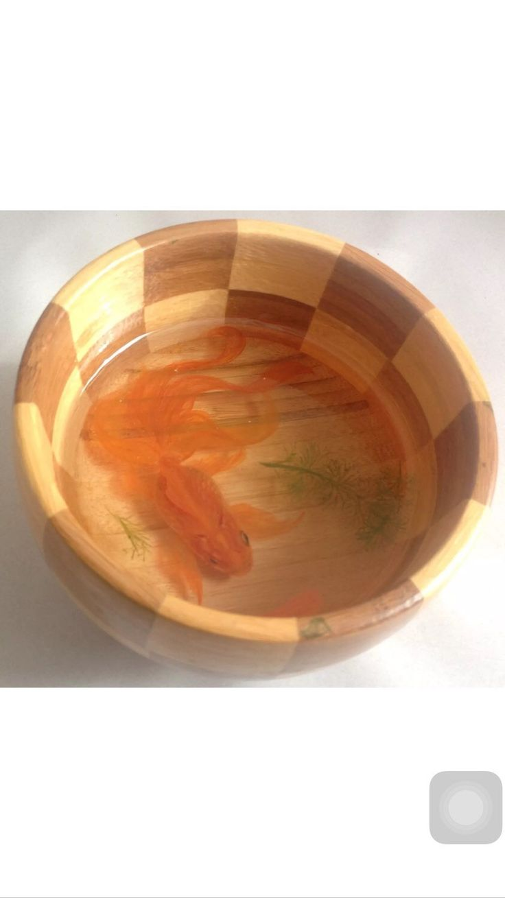 A personal favourite from my Etsy shop https://www.etsy.com/uk/listing/269148725/3-d-goldfish-hand-painting-in-the-resin