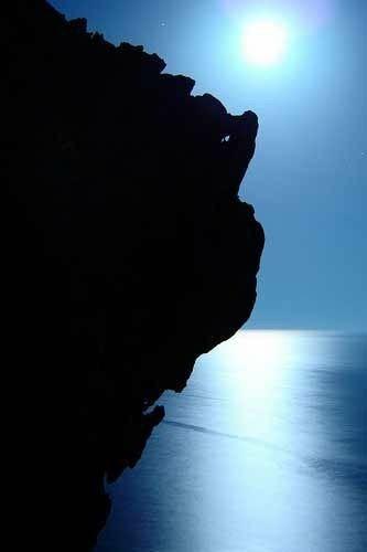 Moonlight at Akrotiri, Santorini island, Greece. - Selected by www.oiamansion.com in Santorini.