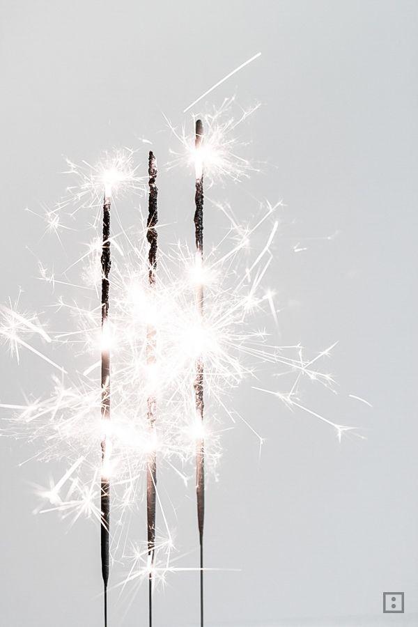 Wunderkerzen - Neujahr