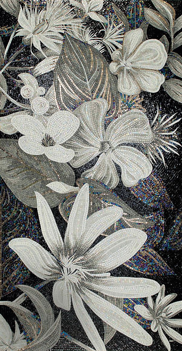 Stunning mosaic. Photo ad_Flower-Power-Collection_FLO-4-B&W_.jpg http://www.admagazine.ru/materials/20315_sekrety-proizvodstva-sicis.php#article