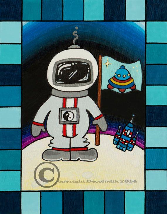 Toiles décoratives astronaute