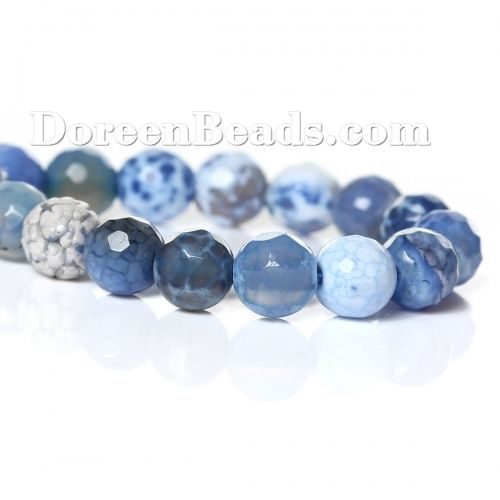 Worldwide Free Shipping (Grade B) Agate (Dyed) Loose Beads Round Blue Faceted About 6mm(2/8) Dia, Hole: Approx 1mm, 36.5cm(14 3/8) long, 1 Strand (Approx 63 PCs/Strand) [B34147] at incredible low price– DoreenBeads.com