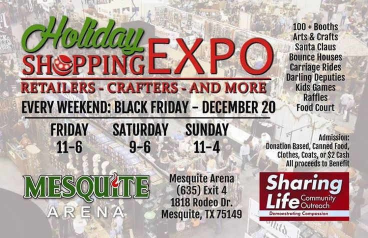 Holiday Shopping Expo Coming to Mesquite Arena Black Friday - December 20. Vendor spaces still available. Call today 972-285-8777 | Pinterest  sc 1 st  Pinterest & Holiday Shopping Expo Coming to Mesquite Arena Black Friday ...
