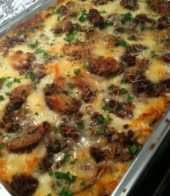 Mushroom and Sausage Lasagna has a creamy rich sauce - so delicious!
