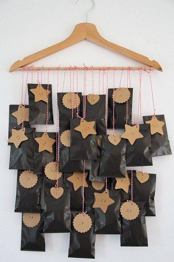 Calendrier de l'avent DIY pour Noël http://www.homelisty.com/diy-noel-49-bricolages-de-noel-a-faire-soi-meme-faciles/