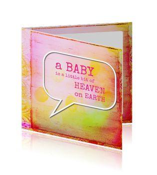 Felicitatie Geboorte - Geboortekaartje, Ontwerp OTTI & Lorie Davison, verkrijgbaar bij Postkaarten.nl