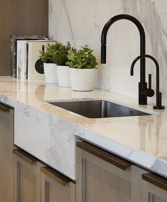 Marble Apron Front Farmhouse Sink Interior Design Kitchen