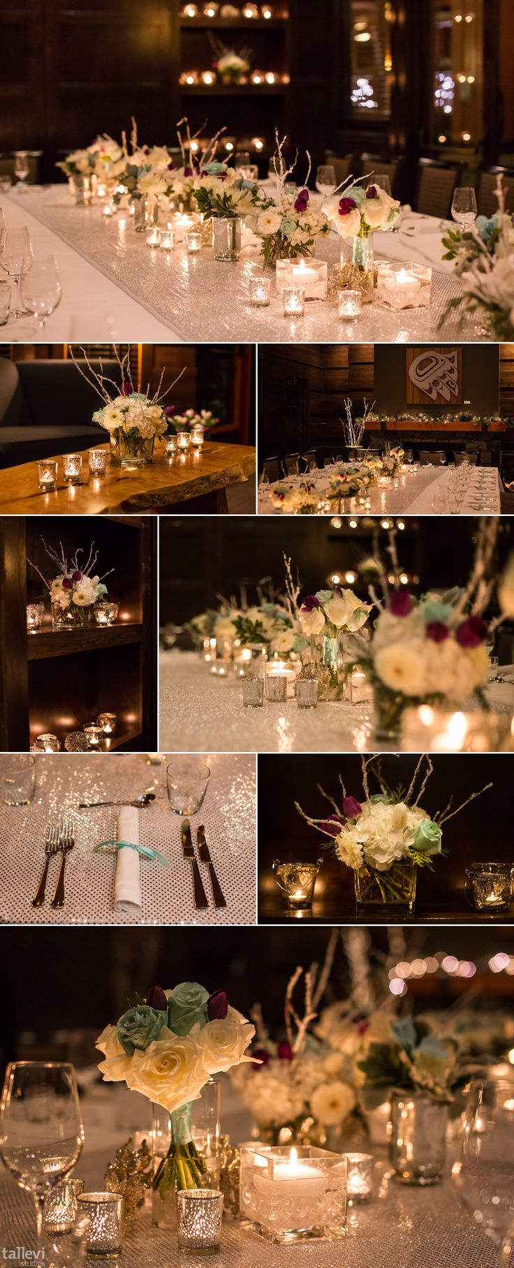 Winter wedding reception in our cozy library