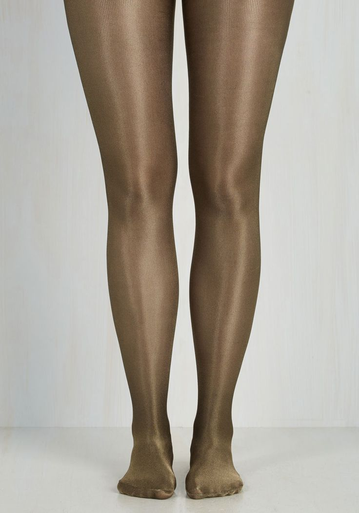 Rock the Haute Tights. Make waves on the scene by styling these shimmering tights and strutting straight to the center of the dance floor! #tan #modcloth