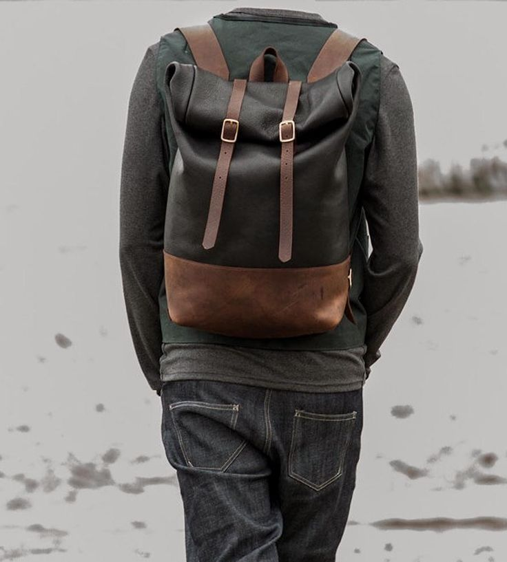 Rolltop Leather Backpack by Loper and Haas on Scoutmob Shoppe