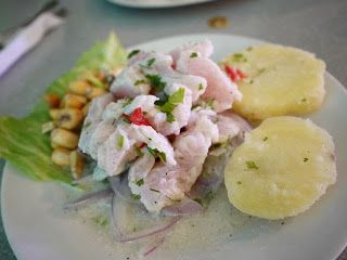 #Lima, foodie capital of South America - #Ceviche with roasted corn & potatoes #gourmettrails