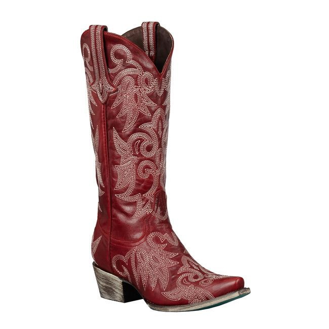 Lane Boots Women's 'Wild Ginger' Red Cowboy Boots | Overstock.com Shopping - The Best Deals on Boots