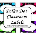 Use these classroom labels to get your room organized.  Included are small, medium, and large polka dot labels in four different colors.   I have l...