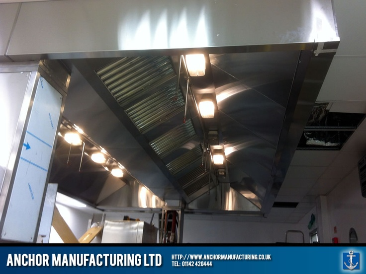 A Kitchen Canopy And Hood In Sheffield Stainless Steel For