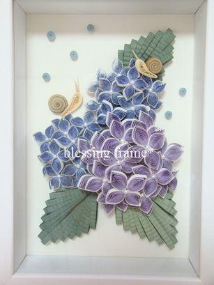 blessing frame*(ブレッシング フレーム):紫陽花とかたつむり。