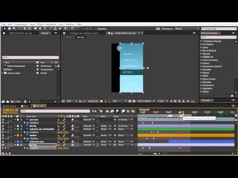 Using After Effects for UI Animation Prototypes - YouTube