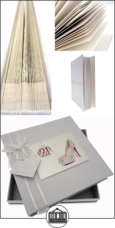 Bola Tarjetas algodón blanco 21o cumpleaños del álbum Glitter y Calzado (Medium)  ✿ Regalos para recién nacidos - Bebes ✿ ▬► Ver oferta: http://comprar.io/goto/B013JKZQ10
