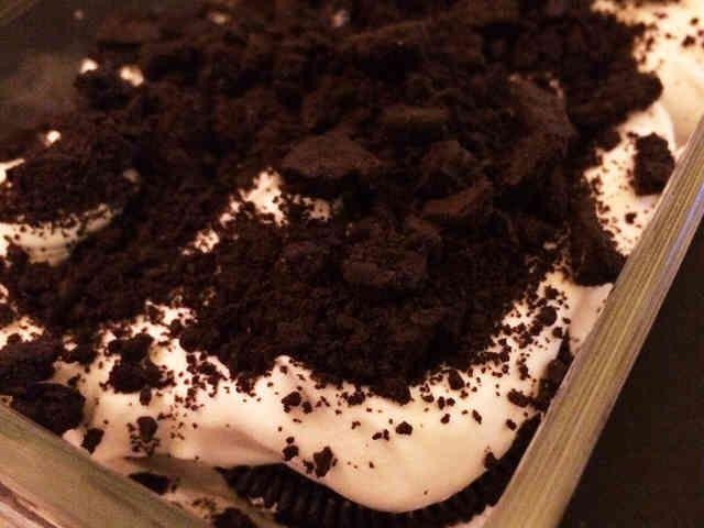 オレオとマスカルポーネの焼かないケーキの画像