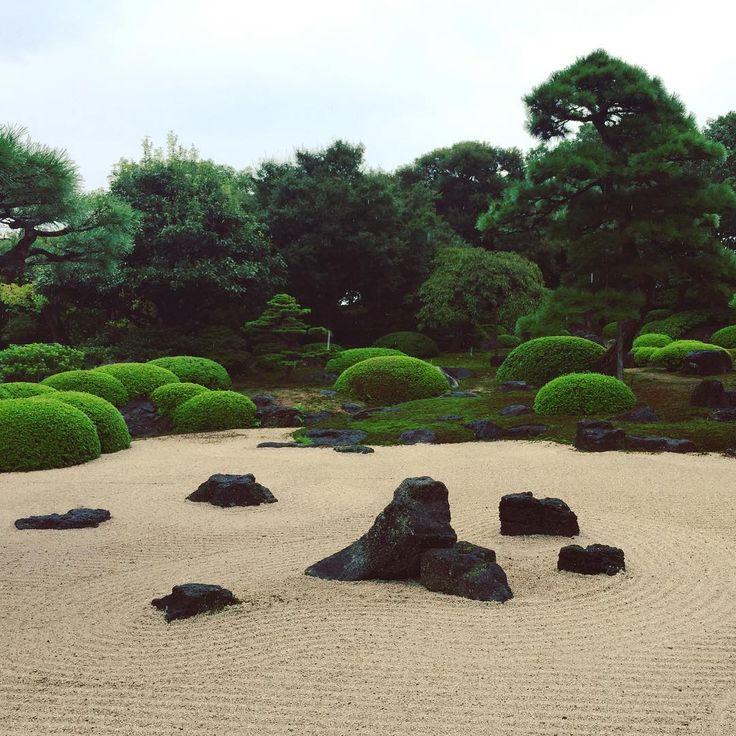 雨の日もしっとりきれい。 #日本庭園#松江市#由志園#枯山水
