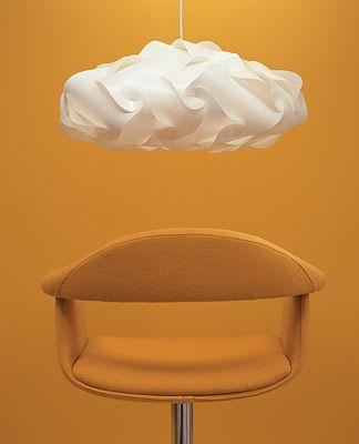 lámpara IQ intelligente nube de 40 piezas. Cloud-shaped IQ lamp using 40 pieces, no tools necessary.