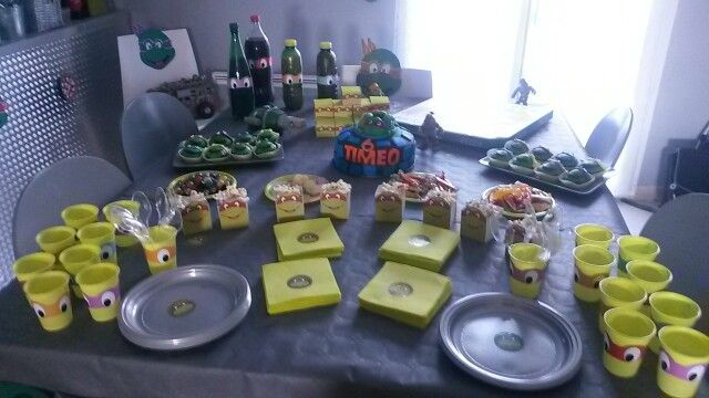 d co anniversaire tortues ninja tortues ninja party