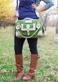 Amazing camera bag by Cheeky Lime - $98.00. The inside is just as cute as the outside! I really might have to order this bag...in pink though! :)