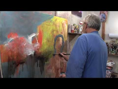 "Mel McCudden, A seven minute look at how Mel McCuddin creates his unique paintings with a series of oil painting techniques where Mel ""finds the image"" within the abstract expressionist ""underpainting"" that he makes first. This process creates a spontaneity that leads to some very interesting results."