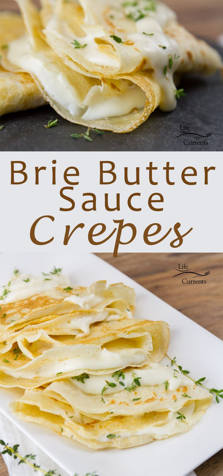 Brie Butter Sauce Crepes - The best of French cuisine made at home #ad #madeinFrance