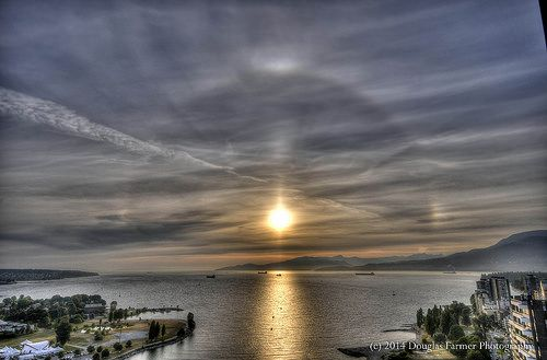 Your moment of Zen: Pacific Sundogs.  English Bay Vancouver, July 4, 2009.  2009 07 Jul 04 English Bay Sundogs 01a