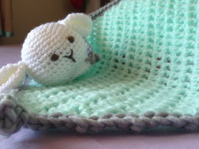 Baby  Security Blankie Crochet - Baa Baa by DELiciousDesignz, $20.00 USD