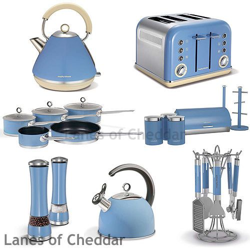 Morphy Richards Kitchen Set: Morphy Richards Cornflower Blue Kitchen Set Accents Range Inc Kettle & Toaster #home #kitchen