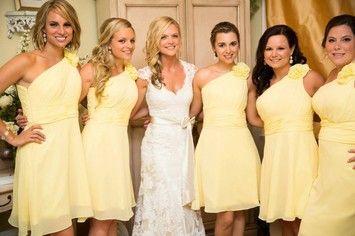 David's Bridal Canary Yellow Dress