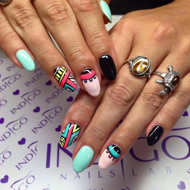 167 best Aztec Nails Art images on Pinterest   Nail scissors, Nail ...