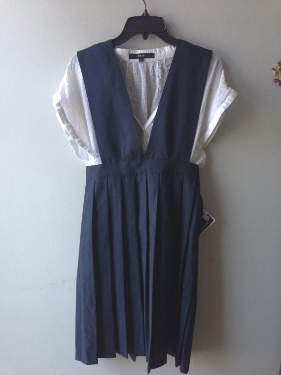 Schoolgirl Pinafore by TheDowryofVenice on Etsy, $30.00
