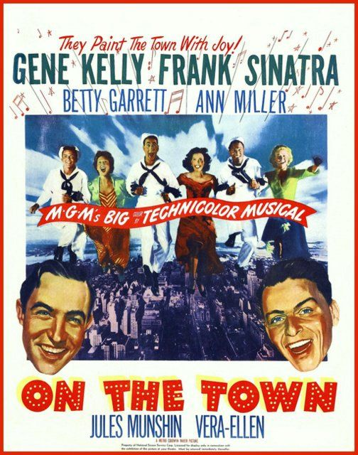 Frank Sinatra On The Town Print of old Movie Film by BloominLuvly, $9.95