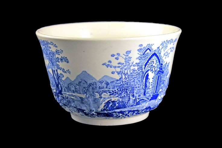 Rice Bowl, Taylor Smith & Taylor, English Abbey, Fairway, Embossed, Hard to Find, Blue and Cream Colored, Fine China by MountainAireVintage on Etsy