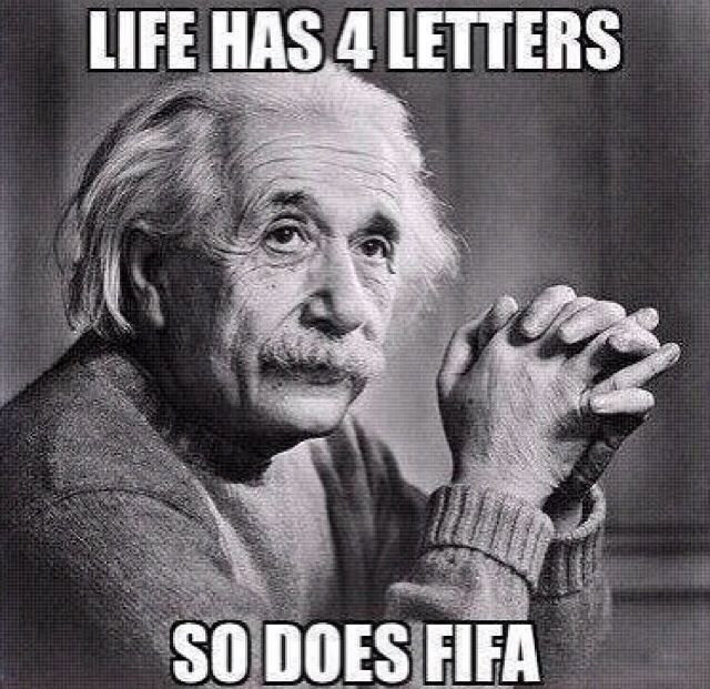 Life has 4 letters, so does FIFA